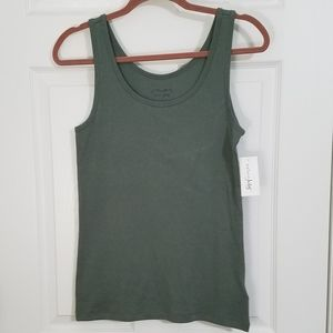 Maison Jules Essential Tank Top Green NWT {Large}
